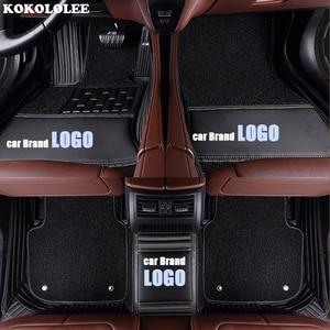 Image 5 - Kokololee רכב רצפת מחצלות עבור פולקסווגן לוגו פולקסווגן עד CC פאסאט b5 b6 b7 b8 פולו גולף 4 5 6 tiguan ג טה טוראן טוארג רכב סטיילינג
