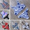 Maiô Mulheres de biquíni Swimwear 2017 Biquíni Definir Empurrar Para Cima Beachwear Cintura baixa Nadar Maiô Biquini Maillot De Bain Femme terno