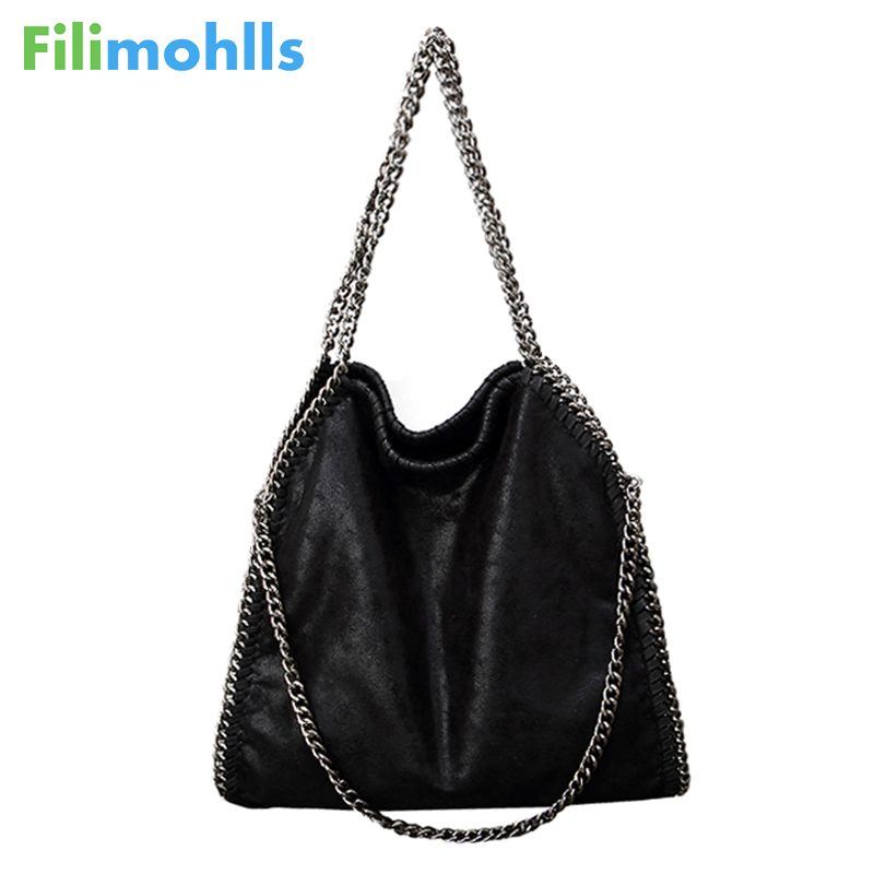 2018 Women Crossbody Bags Falabellas leather Shoulder Bag stella 3 silver chains Bolso Tote Fashion Sac A Main Lady Torba S1473 women bag shoulder bag falabellas tasche with 3 chains evening bolso socialite tote fashion sac a main lady torba cx258