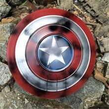 1:1 Cosplay tarcza pełna metalowa osłona Party mężczyźni broń Prop silny prezent Home Art American superbohaterowie Weapen