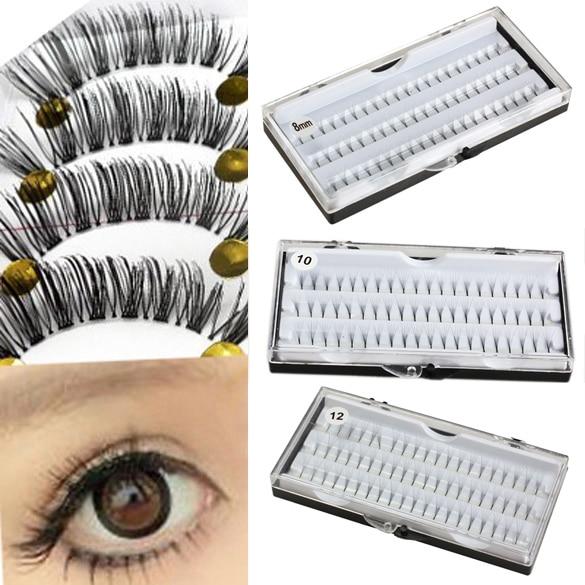60 Pcs Set False Eyelash Cluster Eyes Makeup Eye Lashes Extension Tray JIU55 in False Eyelashes from Beauty Health