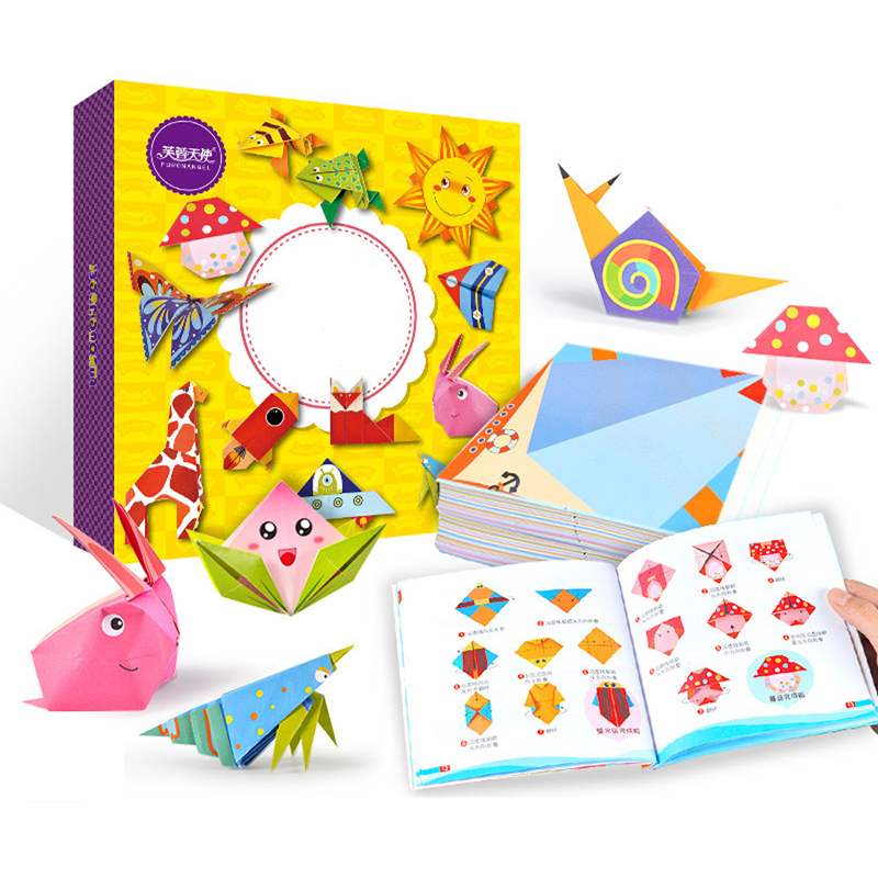 DIY Paper Craft Toys For Children 3D Puzzles Animal Pattern Kids Learning Educational Toys Funny Game Handmade Gift 54pcs/set