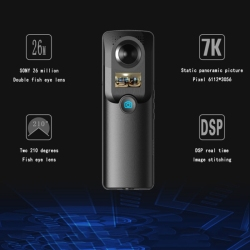 Outdoor Sports Camera 720 Aerial Photography 3D Viewing Room Vr Camera 360 Degree Panoramic Camera