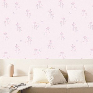 5 m long ,50 cm wide baby Eco-friendly rustic small flower pink pvc wallpaper child real beijingqiang wallstickers wall art