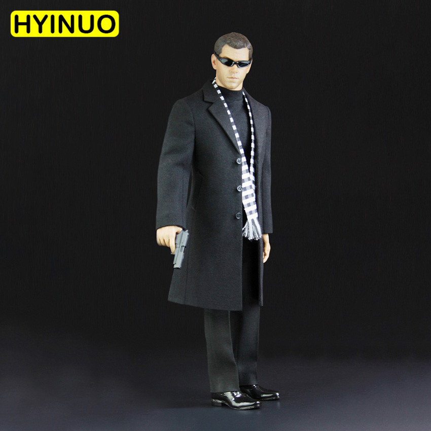 Bright 1/6 Scale Men Agent Leather Suit Male Agent Of Overcoat Suits Clothes Clothing Suit Set Model For 12action Figure Body Skilful Manufacture Action & Toy Figures