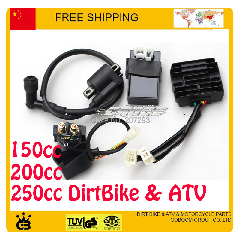 LONCIN ZONGSHEN lifan 150cc 200cc 250CC 엔진 CDI + IGNITION COIL + RELAY + RECTIFIER atv dirtbike motorcylce parts 무료 배송