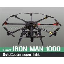 Cheapest prices Tarot IRON MAN 1000 Octocoptor Frame Kit TL100B01 Ultralight