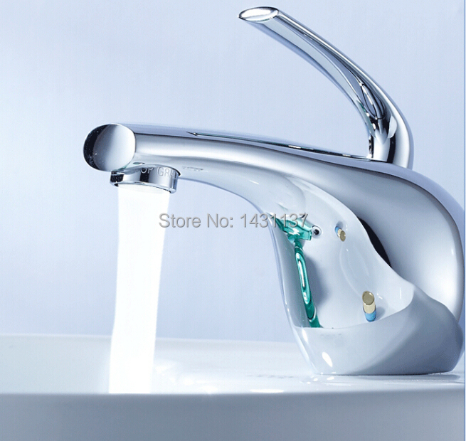 2016 new arrival  high quality brass material Single lever hot and cold bathroom sink faucet  basin faucet free shipping new design high quality brass material single lever basin faucet