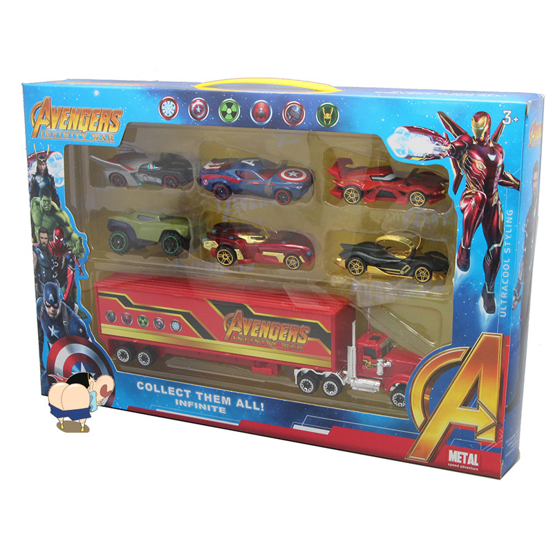 2019 New Avengers Racing Set Combination Creative Cartoon Alloy Children's Car Toy