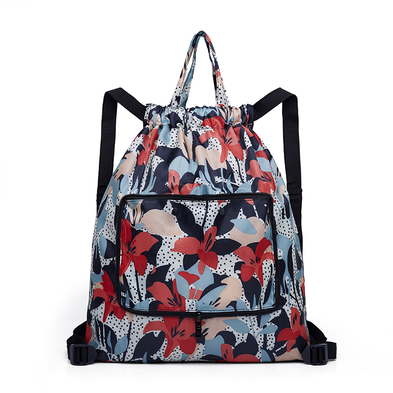 Fashion Portable backpack ultra light folding shoulders bag female travel bag nylon cloth large storage bag