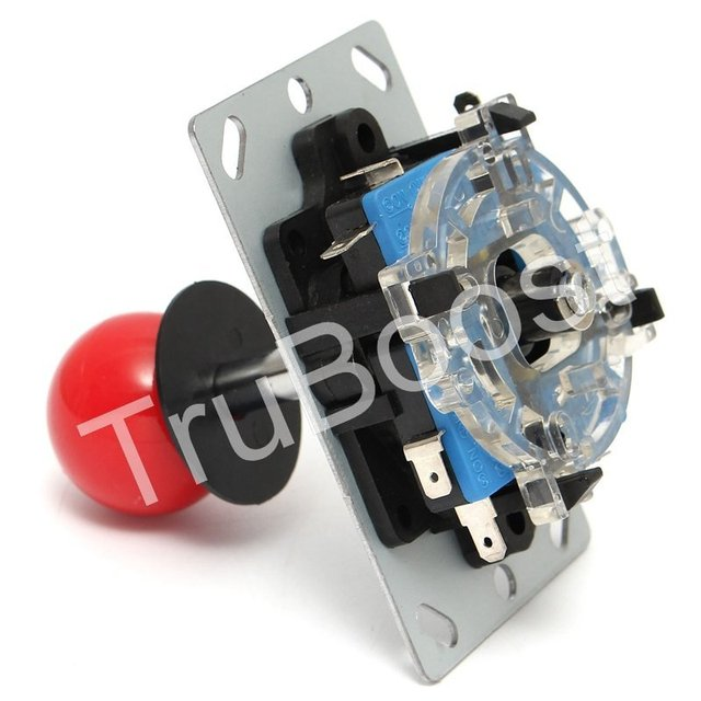 2Pin Cable DIY Arcade Replacement Part 24mm/30mm Push Buttons USB Encoder Board PC Joystick 6 Colors