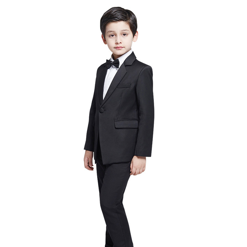 4pcs/Set Boys Suits For Weddings Kids Prom Suits Black Wedding Suits Kids Blazers Boys Clothing Set Boy Costume Formal Classic