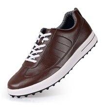 حذاء جولف الرجال أحذية رياضية PGM علوي الحبوب الجلود مقاوم للماء الذكور الغولف حذاء رياضة المطاط أسفل المضادة للانزلاق للصدمات الذكور الأحذية