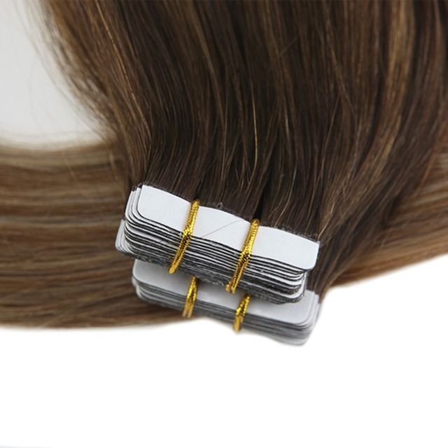 Tape in Hair Extensions Human Hair Remy Brazilian Hair Skin Weft