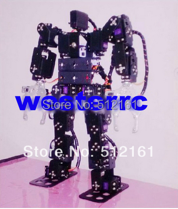 17 DOF biped walking humanoid robot dance 2013 new 17 degrees of freedom humanoid robot saibov6 teaching and research biped robot platform model no electronic control system