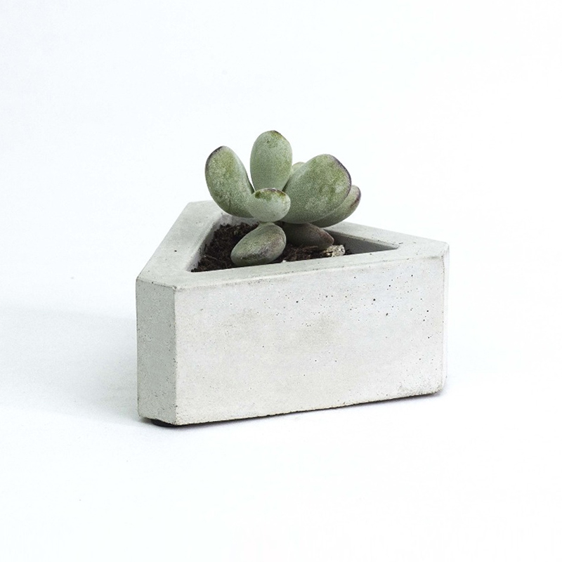 Silicone Cement Mold Triangular Concrete Flowerpot Mould for Succulent Plants Handmade Home Decoration Tool in Clay Molds from Home Garden