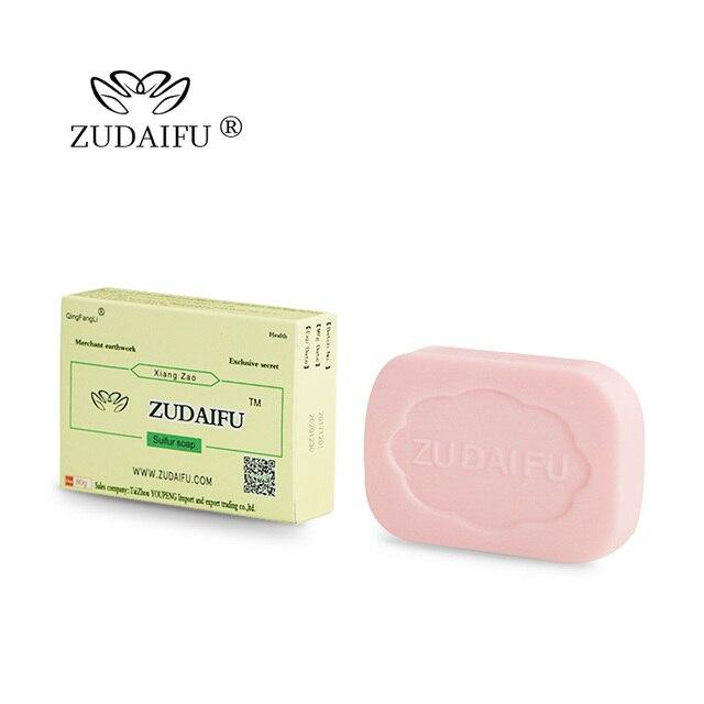 1 piece Zudaifu Sulfur sulphur Soap skin repair clearance Acne Psoriasis Seborrhea Eczema Anti Fungus Bath whitening shampoo 2