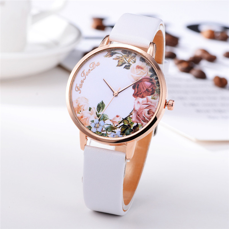 Fashion Womens Watch Girls Casual Flower Dial Leather Band Quartz Wrist Watches Female Clocks Montre Femme Relogio Feminino #D HTB1fQ95zHSYBuNjSspfq6AZCpXaz
