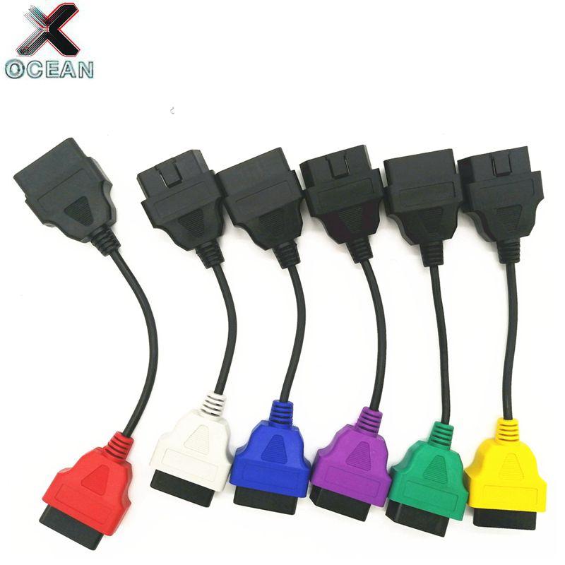 6 pièces bonne qualité pour fiat ecu scan OBD2 connecteur câble de Diagnostic pour Fiat ECU Scan Multi ECU câble de balayage pour Fiat