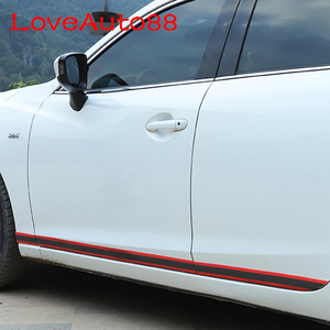 Image 3 - Door Sill Scuff Plate Guards Door Sills Protector Sticker Carbon Fiber Car Accessories For Mitsubishi Lancer 9 10
