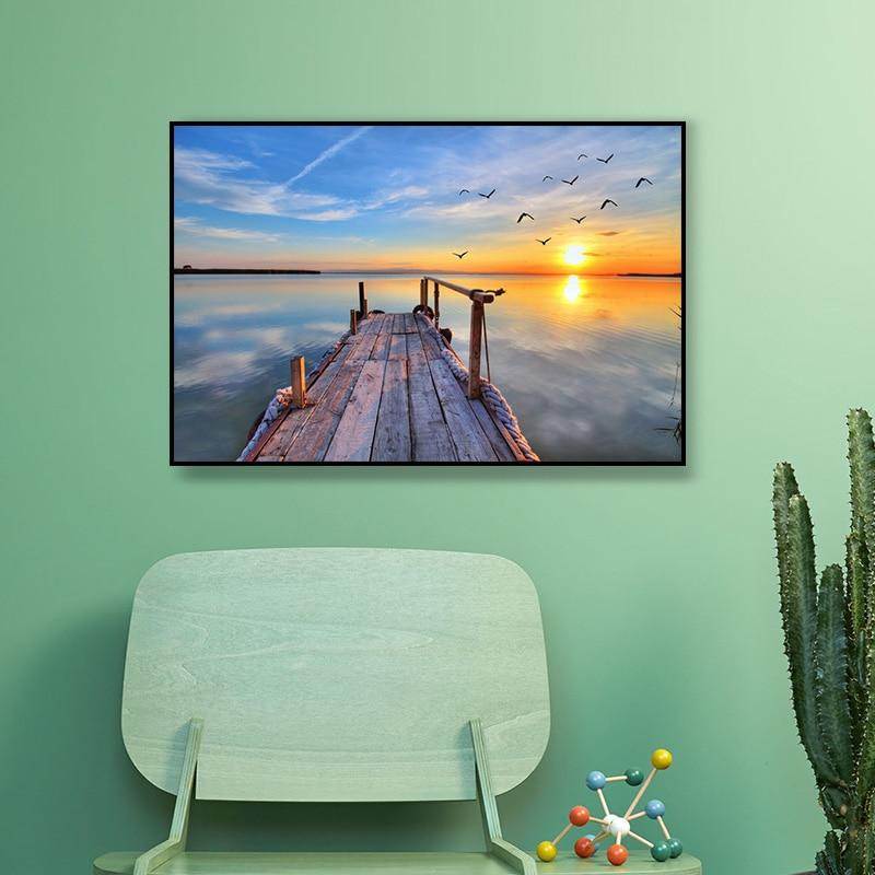 Oceán olejomalba vytištěn na plátně barevné nástěnné obrazy pro obývací pokoj domácí výzdoba