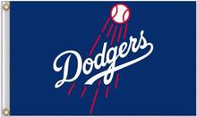 Los Angeles Dodgers MLB Flag 3X5FT Flag Hot Sale Products 90×150 cm Sports Outdoor Flag Brass Metal Custom Flag Holes, Free Ship