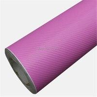 Оптовая продажа розовый 3D углеродного волокна виниловой пленки с выпуска воздуха оклеивание классический обновления охватывает Размеры: