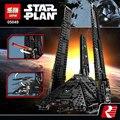 Nuevo 863 unids lepin 05049 serie star 75156 la imperial shuttle building blocks ladrillos juguetes compatibles con lego