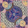 Осенняя Мода 100 см Площадь Италия Ретро Цветок Цветочный Королевский Суд Чистый Саржевого Шелковый Шарф Печати Марка Шали Шарфы Платки