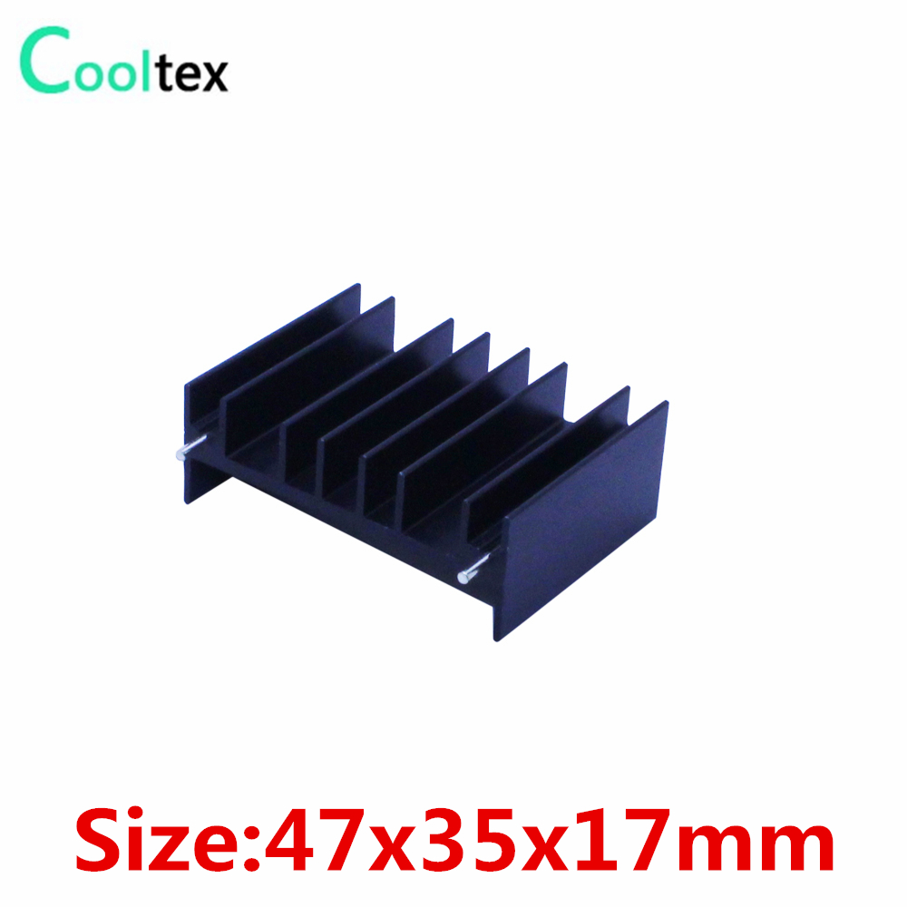 (5pcs/lot) 47x35x17mm heatsink radiator heat sink for MOS Triode Diode Dynatron IC Electronic cooler cooling
