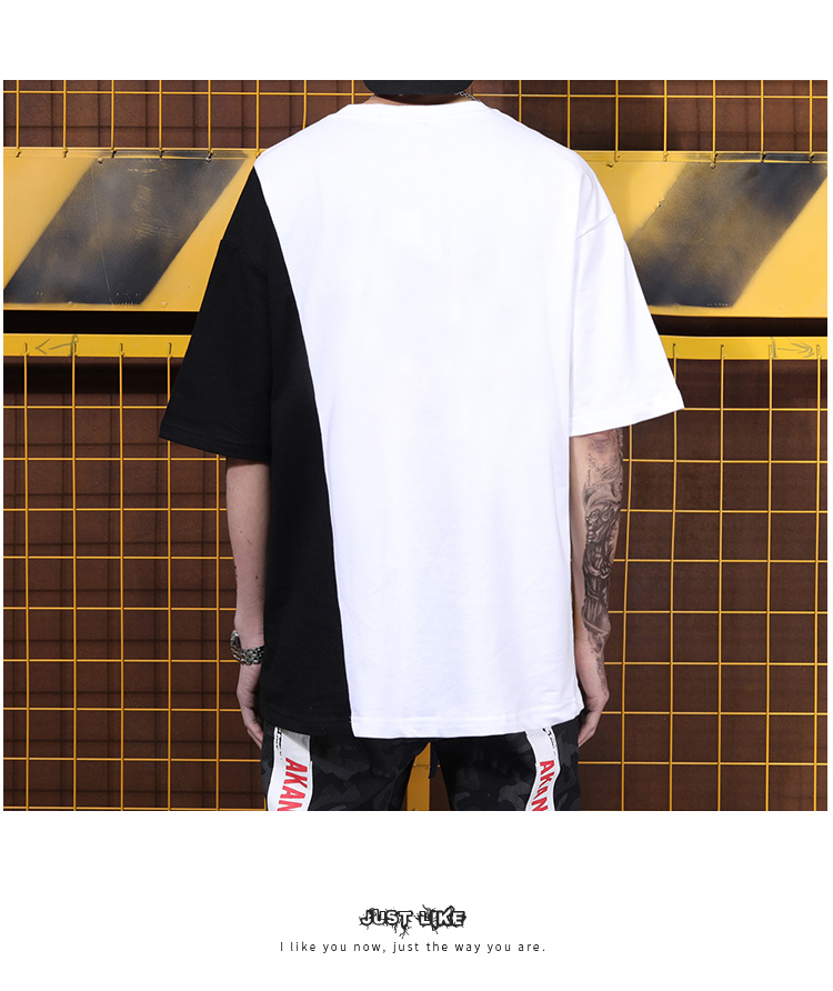 Tide brand long section five point sleeve half sleeve T shirt trend color matching zipper decorative short sleeve-in T-Shirts from Men's Clothing on Aliexpress.com | Alibaba Group 29
