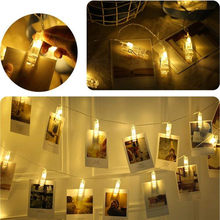 New High Quality Photo Clip String Lights Photo Peg Clip String Light Party Wedding Decoration Drop Shipping(China)