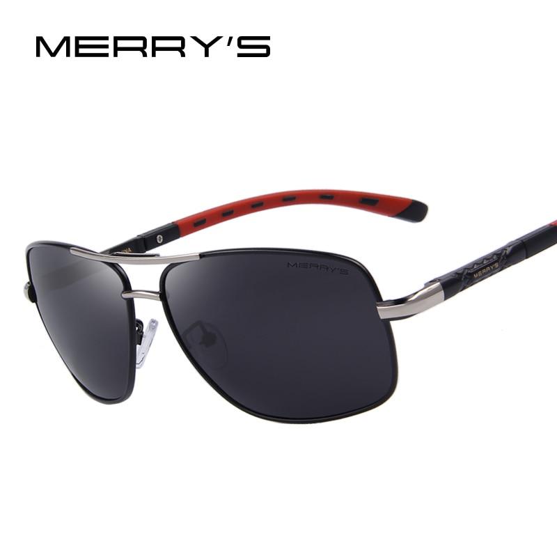 MERRYS vīriešu alumīnija polarizētās saulesbrilles EMI aizsargājošā pārklājuma objektīva klasiskā zīmola braukšanas žalūzijas S8714