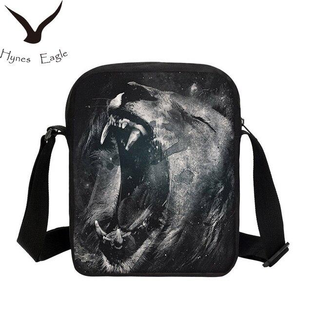 Hynes Eagle Brand Design Small Messenger Bag For Men Women Fashion Animal  Prints 3D Shoulder Bag Crossbody Bag Casual Sling Bag