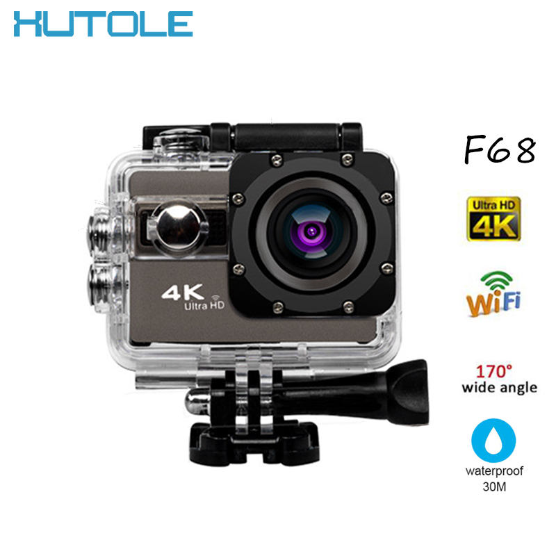 F68 4K Ultra 1080P HD Sport Camera Under Waterproof WIFI Digital Action Cam Support 128G Card Photo 20M Pixels Playback Record