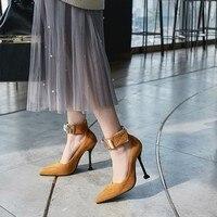 Big Size 11 12 13 14 15 16 17 ladies high heels women shoes woman pumps Magic Tie Tap Button Point Wine Cup heel