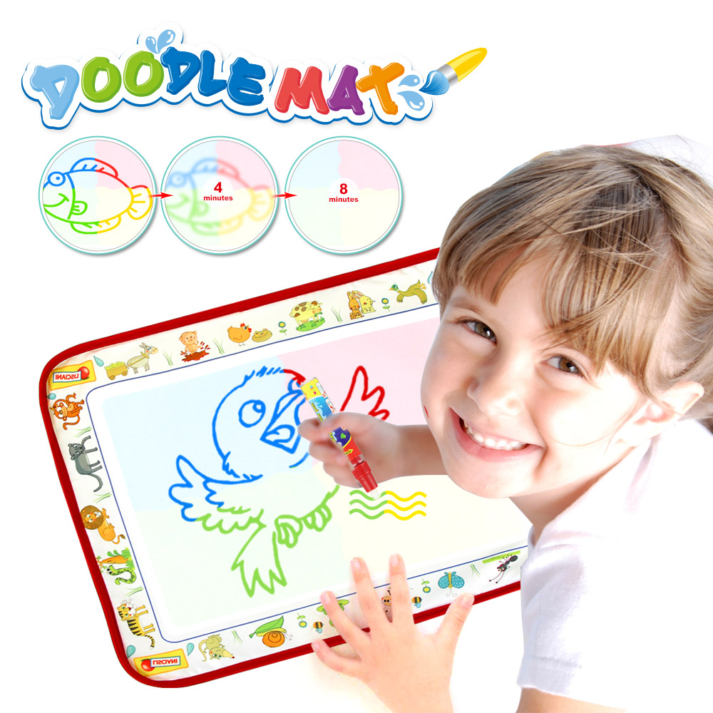38.5*29cm Water Doodle Mat & Magic Pen Water Drawing Board Coloring Toys Painting Rug Learning Toys For Kids Xmas Gift