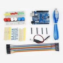 10set New Starter Kit UNO R3 mini Breadboard LED jumper wire button compatile HOT!