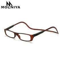 3943617e6a MOLNIYA actualizado Unisex imán gafas de lectura de las mujeres de los  hombres colorido ajustable cuello colgante magnético fren.