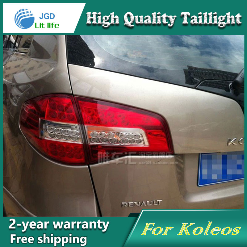 Car LED Tail Light Parking Brake Rear Bumper Reflector Lamp for Renault Koleos Red Fog Stop Lights Car styling