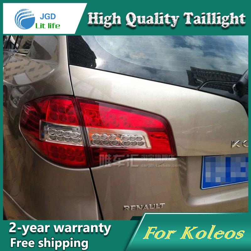 Car LED Tail Light Parking Brake Rear Bumper Reflector Lamp for Renault Koleos Red Fog Stop Lights Car styling