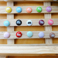 100pcs/lot flat back resin lovely kawaii M Chocolate Beans candy Cabochons Scrapbook Embellishment DIY Phone Decoration 14mm