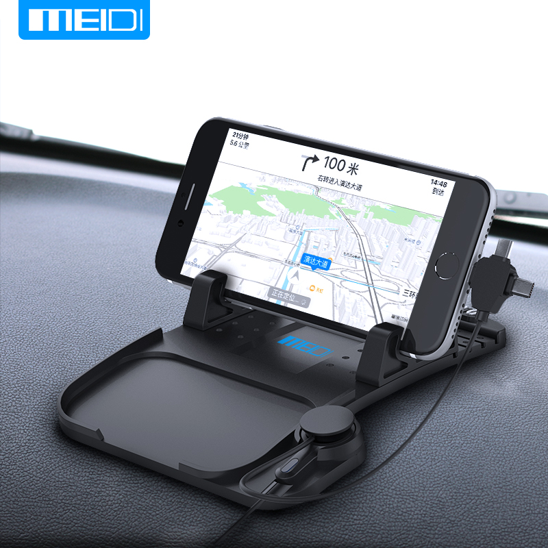 MEIDI Mobile <font><b>Phone</b></font> Car <font><b>Phone</b></font> stands With <font><b>Charger</b></font> USB Cable For iPhone Samsung Type-c Adjustable Bracket Magnet Connector