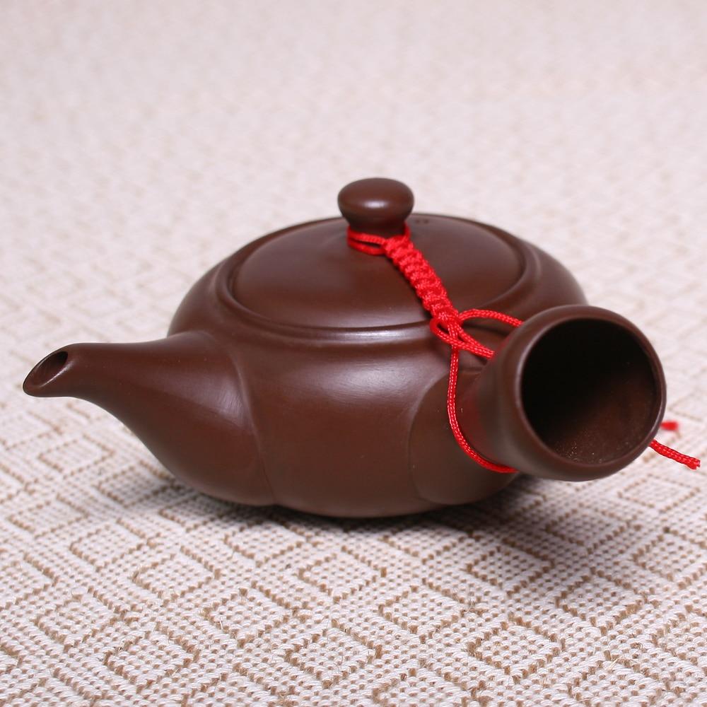 150ML סינית Zisha Yixing סגול חימר Kongfu תבנית קדרות בריאות קומקום תה Infuser בעבודת יד צבע קרמיקה טיט סט טיט