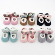 Baby Cartoon Socks Newborn Baby Girls Boys Anti-Slip Socks Slipper Shoes Winter Socks
