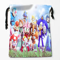 New Arrival Sonic The Hedgehog#3 Drawstring Bags Custom Storage Printed Receive Bag Type Bags  Storage Bags Size 18X22cm