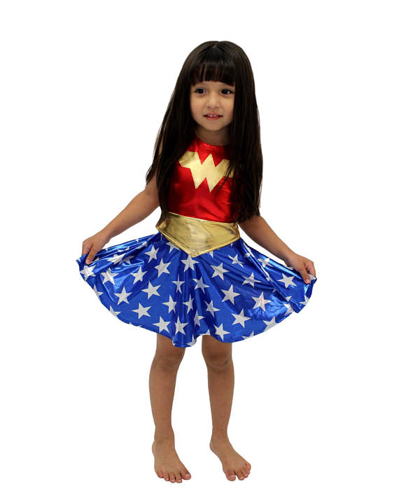2019 New Costume Child Wonder Woman Costume Cosplay Halloween Purim Costume For Kids Party Dress