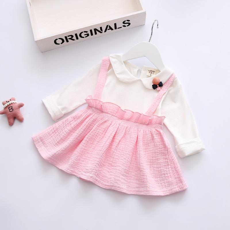 Spring Autumn Baby Dresses 2018 New Long Sleeve Newbron Baby Girls Dresses Casual Cotton Baby Girls Clothes