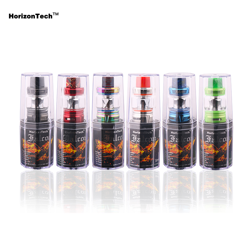 Genuine Horizon Falcon Sub Ohm Tank Electronic Cigarette 7ml Bulb Glass Vape Atomizer with M2 Coil for 510 Box Mods Vaporizer