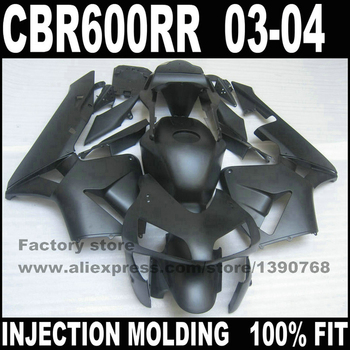ABS road motorcycle body parts for  CBR 600 RR 2003 2004 CBR600RR F5 fairings set  03 04 CBR600 full flat black fairing kit